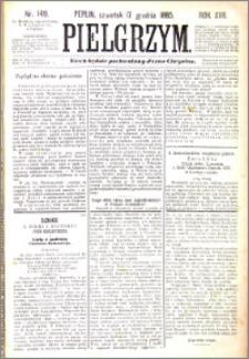 Pielgrzym, pismo religijne dla ludu 1885 nr 149