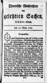 Thornische Nachrichten von Gelehrten Sachen, 1763.05.15 nr 33