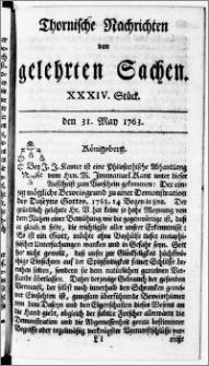 Thornische Nachrichten von Gelehrten Sachen, 1763.05.31 nr 34