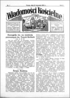 Wiadomości Kościelne : przy kościele św. Jana 1931-1932, R. 3, nr 7