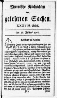 Thornische Nachrichten von Gelehrten Sachen, 1763.07.31 nr 38