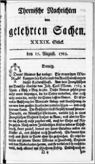 Thornische Nachrichten von Gelehrten Sachen, 1763.08.15 nr 39