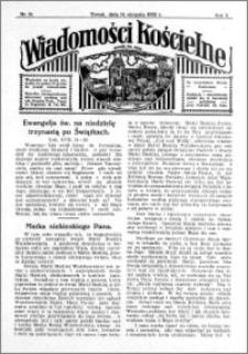 Wiadomości Kościelne : przy kościele św. Jana 1931-1932, R. 3, nr 38