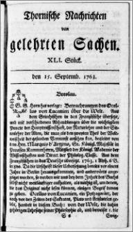 Thornische Nachrichten von Gelehrten Sachen, 1763.09.15 nr 41