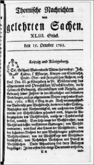 Thornische Nachrichten von Gelehrten Sachen, 1763.10.15 nr 43