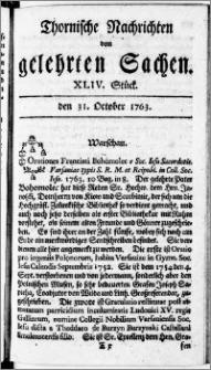 Thornische Nachrichten von Gelehrten Sachen, 1763.10.31 nr 44