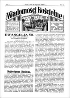 Wiadomości Kościelne : przy kościele św. Jana 1934-1935, R. 6, nr 7