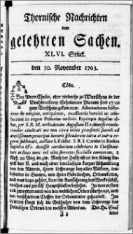 Thornische Nachrichten von Gelehrten Sachen, 1763.11.30 nr 46