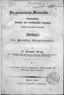 Die Provinz Ostpreussen. [Bd.] 1-3