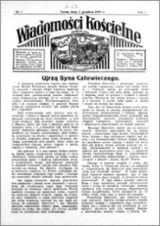 Wiadomości Kościelne : przy kościele św. Jana 1935-1936, R. 7, nr 1