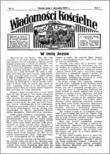 Wiadomości Kościelne : przy kościele św. Jana 1935-1936, R. 7, nr 6