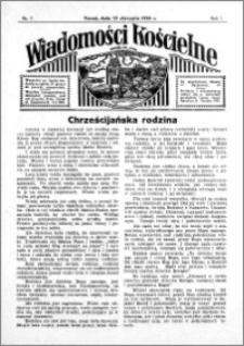 Wiadomości Kościelne : przy kościele św. Jana 1935-1936, R. 7, nr 7