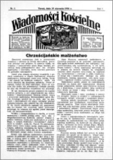 Wiadomości Kościelne : przy kościele św. Jana 1935-1936, R. 7, nr 8