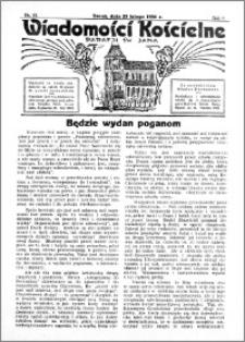 Wiadomości Kościelne : przy kościele św. Jana 1935-1936, R. 7, nr 13