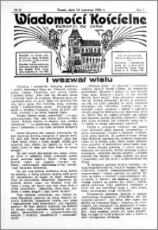 Wiadomości Kościelne : przy kościele św. Jana 1935-1936, R. 7, nr 29
