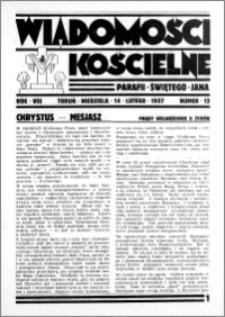 Wiadomości Kościelne : przy kościele św. Jana 1936-1937, R. 8, nr 12