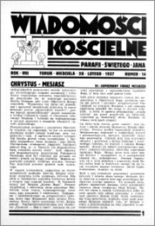 Wiadomości Kościelne : przy kościele św. Jana 1936-1937, R. 8, nr 14