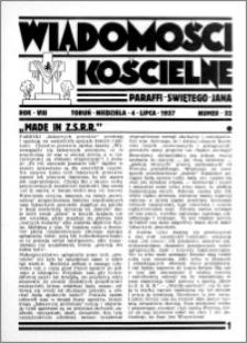Wiadomości Kościelne : przy kościele św. Jana 1936-1937, R. 8, nr 32