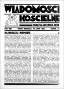 Wiadomości Kościelne : przy kościele św. Jana 1936-1937, R. 8, nr 34