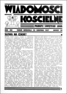 Wiadomości Kościelne : przy kościele św. Jana 1936-1937, R. 8, nr 39