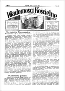 Wiadomości Kościelne : przy kościele N. Marji Panny 1930-1931, R. 2, nr 10