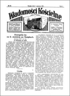 Wiadomości Kościelne : przy kościele N. Marji Panny 1930-1931, R. 2, nr 28