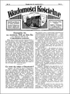 Wiadomości Kościelne : przy kościele N. Marji Panny 1930-1931, R. 2, nr 43