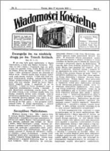 Wiadomości Kościelne : przy kościele N. Marji Panny 1931-1932, R. 3, nr 8