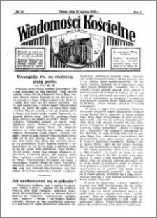 Wiadomości Kościelne : przy kościele N. Marji Panny 1931-1932, R. 3, nr 16
