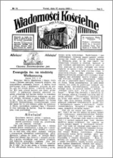 Wiadomości Kościelne : przy kościele N. Marji Panny 1931-1932, R. 3, nr 18