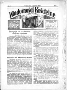 Wiadomości Kościelne : przy kościele N. Marji Panny 1933-1934, R. 5, nr 1