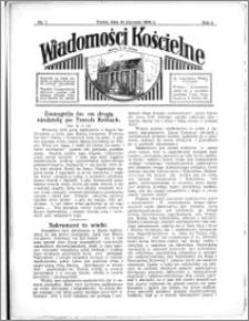 Wiadomości Kościelne : przy kościele N. Marji Panny 1933-1934, R. 5, nr 7