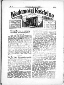 Wiadomości Kościelne : przy kościele N. Marji Panny 1933-1934, R. 5, nr 22