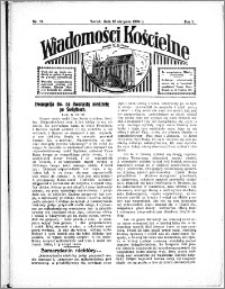 Wiadomości Kościelne : przy kościele N. Marji Panny 1933-1934, R. 5, nr 37