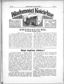 Wiadomości Kościelne : przy kościele N. Marji Panny 1934-1935, R. 6, nr 18