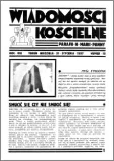 Wiadomości Kościelne : przy kościele N. Marji Panny 1936-1937, R. 8, nr 10