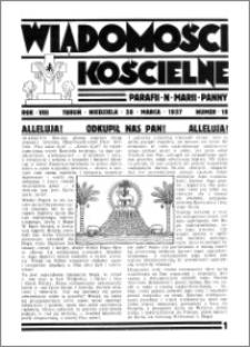 Wiadomości Kościelne : przy kościele N. Marji Panny 1936-1937, R. 8, nr 18