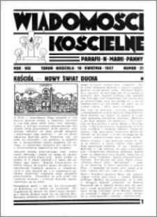 Wiadomości Kościelne : przy kościele N. Marji Panny 1936-1937, R. 8, nr 21