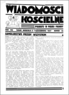 Wiadomości Kościelne : przy kościele N. Marji Panny 1936-1937, R. 8, nr 45