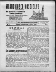 Wiadomości Kościelne : (gazeta kościelna) : dla parafij dekanatu chełmżyńskiego 1930, R. 2, nr 9