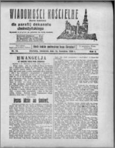 Wiadomości Kościelne : (gazeta kościelna) : dla parafij dekanatu chełmżyńskiego 1930, R. 2, nr 15