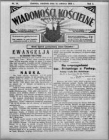 Wiadomości Kościelne : (gazeta kościelna) : dla parafij dekanatu chełmżyńskiego 1930, R. 2, nr 24