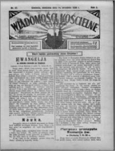 Wiadomości Kościelne : (gazeta kościelna) : dla parafij dekanatu chełmżyńskiego 1930, R. 2, nr 37