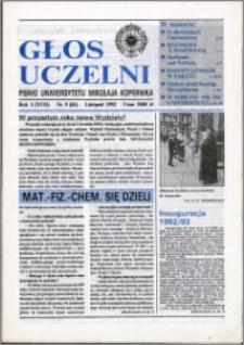 Głos Uczelni : pismo Uniwersytetu Mikołaja Kopernika R. 1=17 nr 5 (1992)