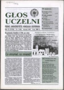 Głos Uczelni : pismo Uniwersytetu Mikołaja Kopernika R. 2=18 nr 1 (1993)