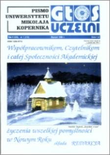 Głos Uczelni : pismo Uniwersytetu Mikołaja Kopernika R. 5=21 nr 1 (1996)
