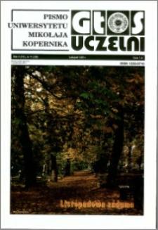 Głos Uczelni : pismo Uniwersytetu Mikołaja Kopernika R. 5=21 nr 11 (1996)