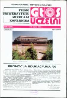 Głos Uczelni : pismo Uniwersytetu Mikołaja Kopernika R. 5=21 wydanie specjalne 5-6 marca 1996