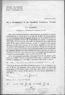 On a generalisation of the Heisenberg Uncertainty Principle