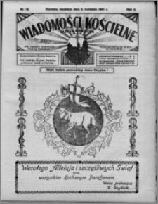 Wiadomości Kościelne : (gazeta kościelna) : dla parafij dekanatu chełmżyńskiego 1931, R. 3, nr 14